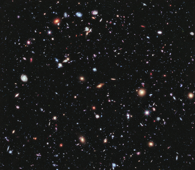 Farthest view of universe, generated from Hubble photographs