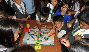 Children in Lipa City, the Philippines, testing the game.