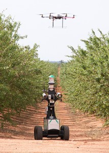 """Automation can """"increase efficiency and yield by having many of the manual tasks of farming performed by specially designed agricultural robotic devices,"""" says Professor Salah Sukkarieh."""