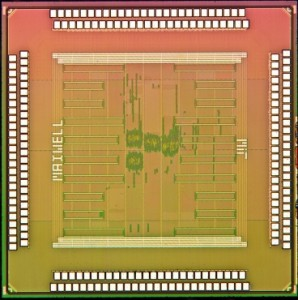 Die photo of the processor chip.  Image courtesy of the researchers