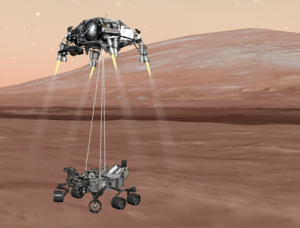 Curiosity's risky landing built on lessons learned from the mistakes of past missions, according to NASA. The landing is shown here in an artist's conception. Credit: NASA