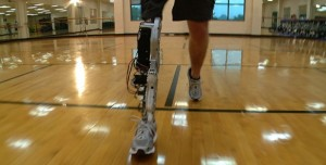 Vanderbilt lower-leg prosthesis is the first artificial leg with powered knee and ankle joints. (Center for Intelligent Mechatronics)