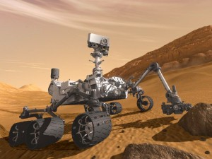 Artist rendering of NASA's Mars Science Laboratory Curiosity rover, a mobile robot for investigating Mars. Image credit: NASA/JPL-Caltech