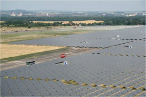 Solarkraftwerk Waldpolenz, the first Solar 40-MW CdTe PV Array installed by JUWI Group in Brandis, Germany. Credit: JUWI Group