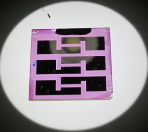 Researchers at Rice and Pennsylvania State universities have created solar cells based on block copolymers, self-assembling organic materials that arrange themselves into distinct layers. Credit: Verduzco Laboratory