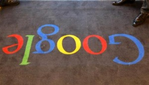 In this Dec. 6, 2011 file photo, the Google logo is seen on the carpet at Google France offices before its inauguration, in Paris. France is giving Google three months to abide by the country's data privacy laws or be fined. The chief of the French agency that regulates information technology says that five other European countries are taking similar steps in a staggered offensive against Google's privacy policy between now and the end of July. The French agency says Spain joined France in the first wave of legal action Thursday June, 20, 2013. (AP Photo/Jacques Brinon, Pool, File)