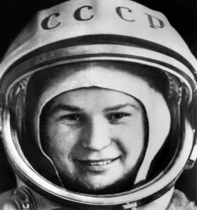 "Russian cosmonaut Valentina Tereshkova, the first woman in space, poses before boarding the Vostok 6, at Baikonur cosmodrome, on June 16, 1963. Russia celebrates the 50th anniversary of the maiden flight of the Soviet national hero who went by the call name ""Seagull"" and captured the imaginations of girls around the world."