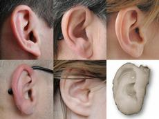 An ear replacement that not only looks but also feels like the real thing. (Image: Nimeskern L. et al., 2013, and Angelika Jacobs / ETH Zurich)