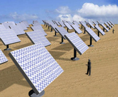Image of a Solar Power Generation Plant employing a concentrator triple-junction solar power generation system