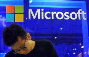 The Microsoft booth is pictured at the Computex trade fair in Taipei on June 4, 2013. Microsoft has joined Google in a legal push for permission to disclose more information about secret government requests for data, according to a US court filing made public.