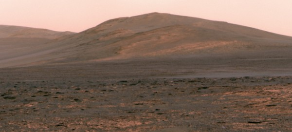 """NASA's Mars Exploration Rover Opportunity used its panoramic camera (Pancam) to acquire this view of """"Solander Point"""" during the mission's 3,325th Martian day, or sol (June 1, 2013). Image credit: NASA/JPL-Caltech/Cornell Univ./Arizona State Univ."""