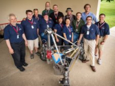 Members of team Survey pose with officials from NASA's Sample Return Robot. (NASA/Bill Ingalls)