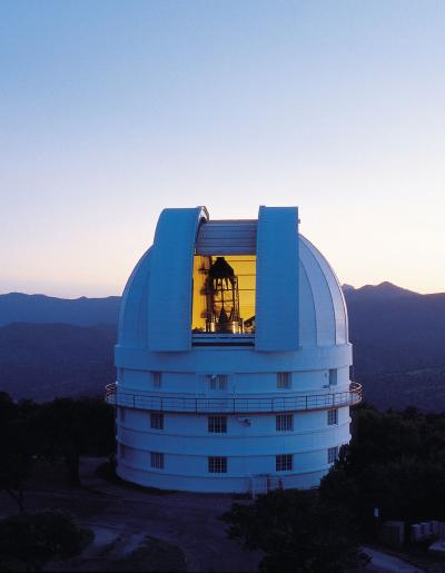 The 2.1-meter (82-inch) Otto Struve Telescope at the University of Texas McDonald Observatory. Photo by Marty Harris/McDonald Observatory