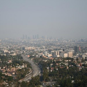 Smog over downtown Los Angeles.