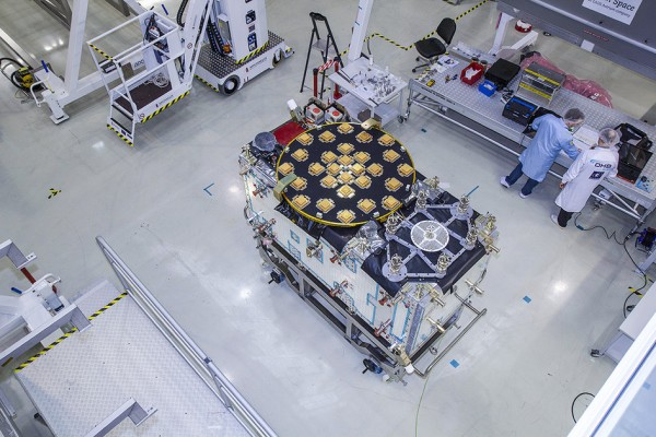 The next batch of Galileo satellites. Credits: OHB