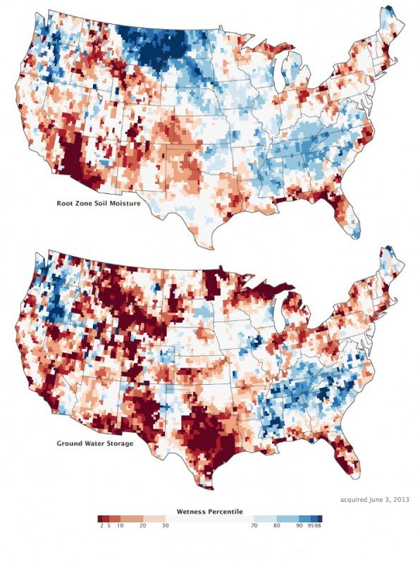 Maps by Chris Poulsen, National Drought Mitigation Center at the University of Nebraska-Lincoln, based on data from Matt Rodell, NASA Goddard Space Flight Center, and the GRACE science team. Caption by Mike Carlowicz, with assistance from Matt Rodell and Chris Poulsen.
