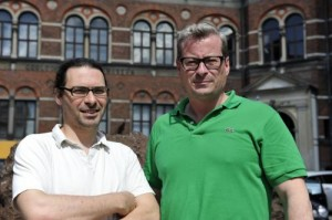 Dr. Ludovic Orlando and Professor Eske Willerslev, both of the Centre for GeoGenetics at the University of Copenhagen, have sequenced the genome of the oldest horse ever found on Earth. Bone fragments from a 700,000 year old nag excavated in Yucon, Canada had enough DNA in them to reveal new aspects of the evolutionary history of the horse. Credit: Photo: Uffe Wilken/University of Copenhagen