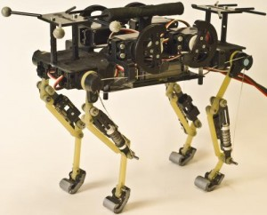 This is cheetah-cub, a compliant quadruped robot. Credit: EPFL