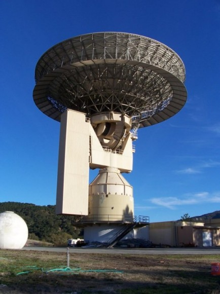 The Jamesburg Earth Station radio dish in Carmel, California will be used to send the Lone Signal messages to space. Image via Lone Signal.
