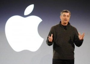Eddy Cue, an Apple senior vice president, speaks on February 2, 2011, at the Guggenheim Museum in New York. Cue downplayed the theory of an e-book price-fixing conspiracy at an antitrust trial Monday, saying publishers were already moving away from Amazon's model when Apple launched its iPad.