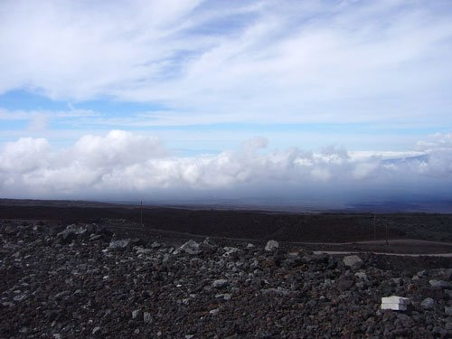 From the sprawling dome of Mauna Loa--11,000 feet above Hawaii's coconut-fringed beaches--climate scientists David Noone and Joe Galewsky can track water vapor that has traveled as far as the equator and the pole. They're the first to try to measure vapor's chemical signature in real-time in order to understand the processes controlling the global water cycle. Credit: CIRES, University of Colorado at Boulder