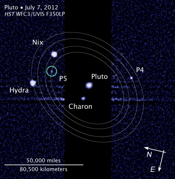 The Pluto and Charon Binary Planet System imaged by the Hubble Space Telescope. NASA's New Horizons spacecraft will pass through in 2015 using the original baseline trajectory . Credit: Hubble Space Telescope