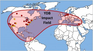 The researchers studied the impact spherules in 18 sites in nine countries on four continents for this study. Credit: YDB Research Group