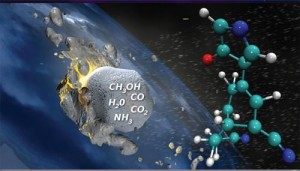 Synthesis of prebiotic hydrocarbons in impacts of simple icy mixtures on early Earth.