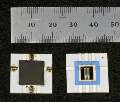Bottom (left) and top (right) of the improved MJTC.