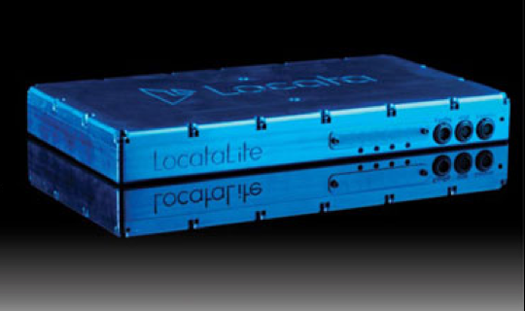 The LocataLite box, about the size of a VHS tape. For those of you who remember the VHS. (photo from Locata Corporation)