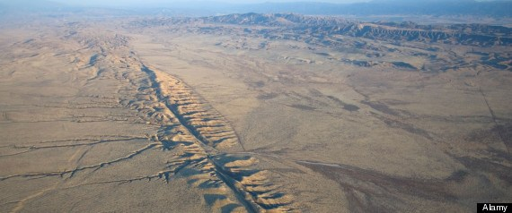 The San Andreas Fault won't lead you to gold, but a smaller fault line just might… Image: Huffington Post