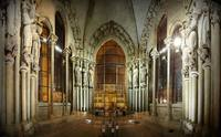 Researchers set up microphones in Lausanne Cathedral to test their algorithm that determines room shape based on echoes. Credit: Ivan Dokmanic