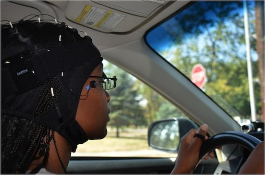 Testing for cognitive distractions (photo supplied by AAA)