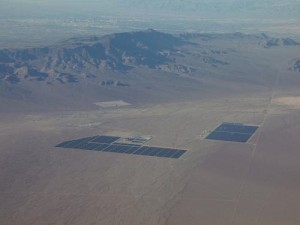 A photograph of w:Nevada Solar One and Copper Mountain Solar 1. Credit: Michael Adams