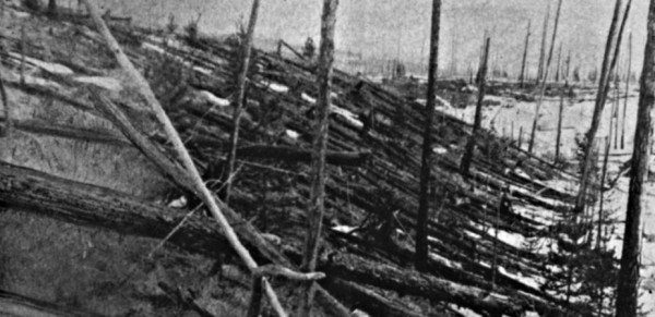 Vast areas were flattened by a meteorite in Tunguska in 1908. Credit: Leonid Kulik
