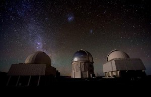 View of Blanco Telescope (centre) at night. Credit: Fermilab Visual Media Services