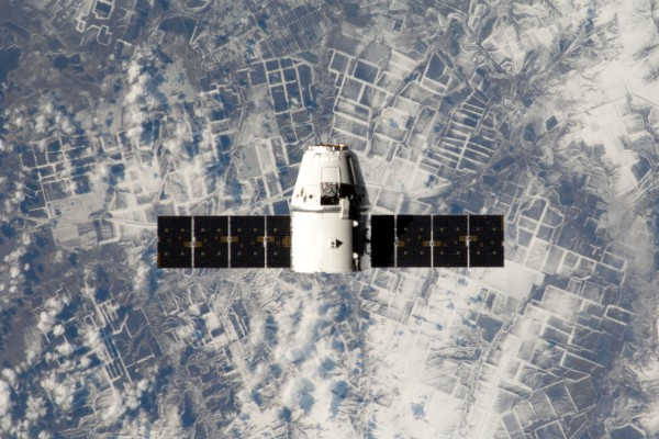 NASA fears there will not be enough money to fund commercial providers such as SpaceX  (Dragon cargo spacecraft pictured) who aim to bring astronauts to the space station themselves. Credit: NASA/CSA/Chris Hadfield