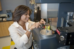 Mechanical and industrial engineering assistant professor Marilyn Minus has developed a superstrong fiber that rivals the best in the industry. Credit: Mary Knox Merrill