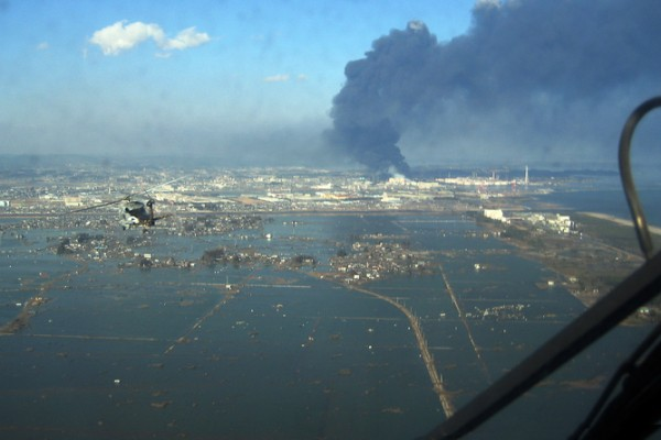 Sendai, Japan after the 2011 tsunami: imagine nature's destruction at the push of a button. Credit: US Navy