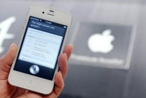 "The ""Siri"" digital personal assistant is displayed on an Apple iPhone 4S in Taipei on July 30, 2012. A case against Apple brought by a Chinese firm for alleged patent infringement in its digital personal assistant ""Siri"" has begun in a Shanghai court, state media said Wednesday."