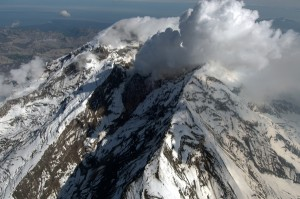 When Mount Redoubt near Anchorage, Alaska, began spewing ash in 2009, scientists at the Alaska Volcano Observatory and the University of Washington recorded the event using sensors deep inside the volcano. Credit: Cyrus Read / U.S. Geological Survey