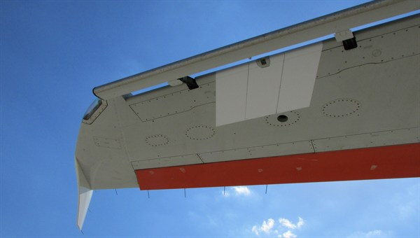 ATRA wing with adhesive film