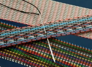 Flat-woven cables