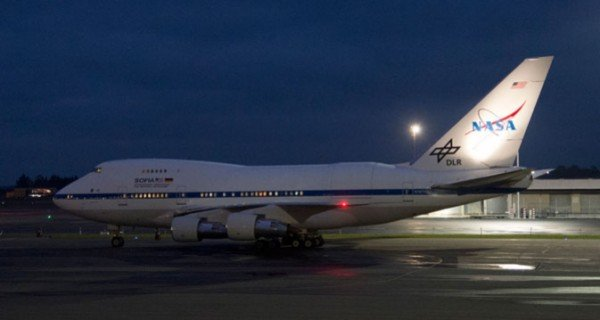The SOFIA 747SP prepares for takeoff from Christchurch International Airport, New Zealand, on one of nine science missions to collect infrared astronomy data about the skies over the Southern Hemisphere. Image Credit: NASA / Carla Thomas