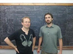 This is Joaquim Matias (left) and Javier Virto at the Universitat Autònoma de Barcelona. Credit: UAB