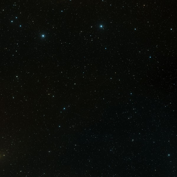This image shows the COSMOS field and is a colour composite made from Digitized Sky Survey 2 (DSS2) exposure. The field of view is 3.3 x 3.3 degrees.