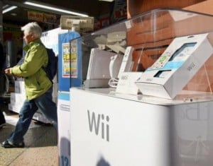 """Nintendo's video game console """"Wii"""" is displayed at a Tokyo electronic shop on December 1, 2006. Nintendo said Wednesday that it has filed a lawsuit against a US website with a business model built on hacking into the company's videogame hardware."""