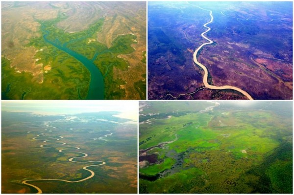 The diverse rivers of Northern Australia, flat and expansive, support diverse species and are linked by unregulated Wet season flows. Credit: Andrew Campbell