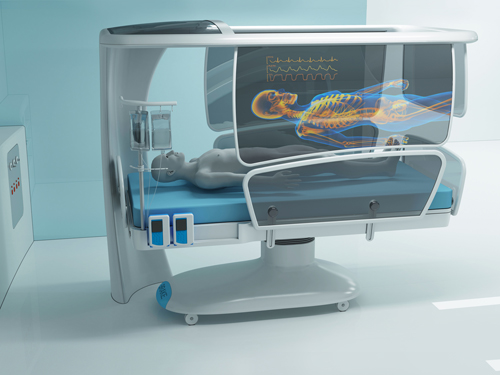 Hugh Stehlik and Blake Fenwick were awarded for their intensive care unit hospital bed design.