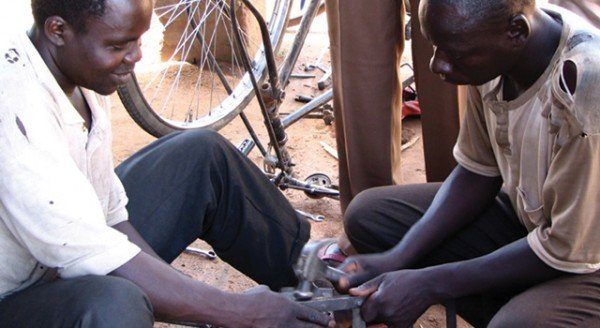 Cash grants helped young people in Uganda become metalworkers, carpenters, tailors and hair stylists.